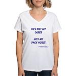 He's Not My Carer Women's V-Neck T-Shirt