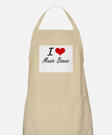 I Love Music Boxes Apron