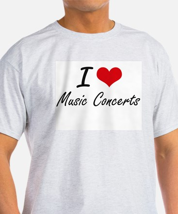 I Love Music Concerts T-Shirt
