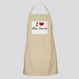 I Love Music Concerts Apron