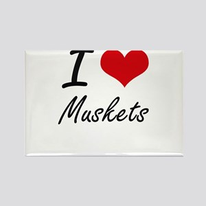 I Love Muskets Magnets