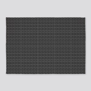 Faux Chainmail 5'x7'area Rug