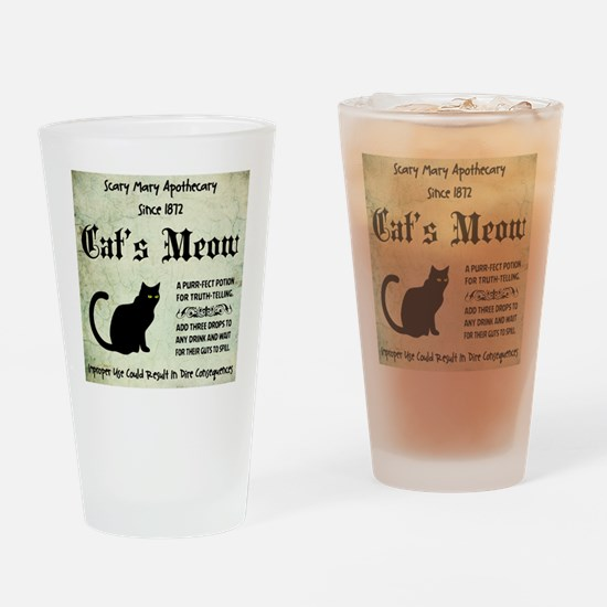 CATS MEOW Drinking Glass