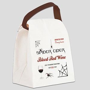 SPIDER CIDER Canvas Lunch Bag