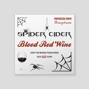 """SPIDER CIDER Square Sticker 3"""" x 3"""""""