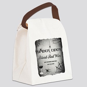 SPIDER CIDER Canvas Lunch Bag