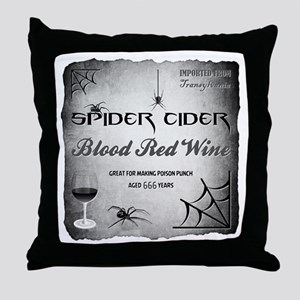 SPIDER CIDER Throw Pillow