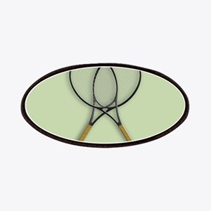 Tennis Sports Design Patch