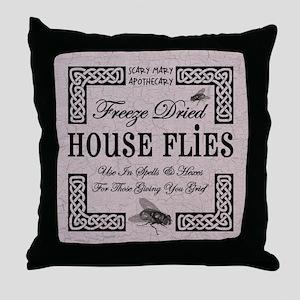 HOUSE FLIES Throw Pillow