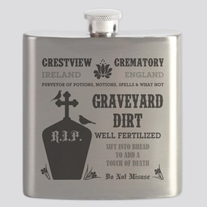 GRAVEYARD DIRT Flask
