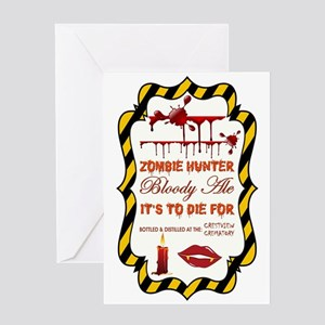 ZOMBIE HUNTER Greeting Card