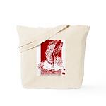 Diamond Horse Sepia Red Tote Bag
