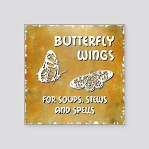 "BUTTERFLY WINGS Square Sticker 3"" x 3"""