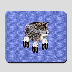Eagle Feathers Wolf Mousepad