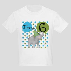 Elephant 6th Birthday Kids Light T-Shirt
