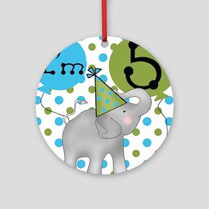 Elephant 5th Birthday Ornament (Round)