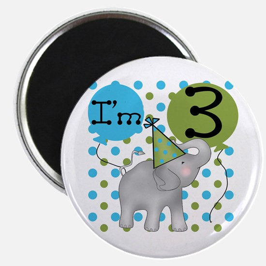Elephant 3rd Birthday Magnet