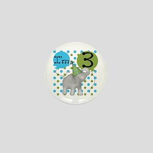 Elephant 3rd Birthday Mini Button