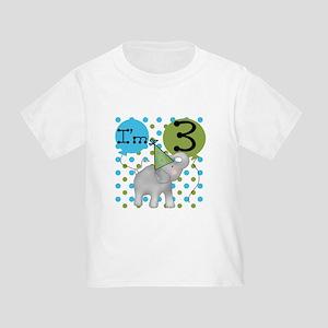 Elephant 3rd Birthday Toddler T-Shirt