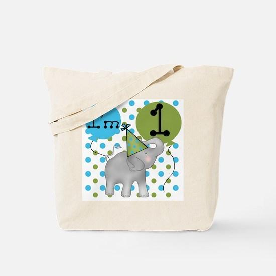 Elephant 1st Birthday Tote Bag