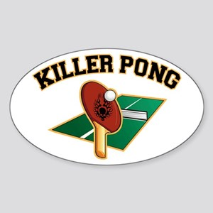Killer Pong Oval Sticker
