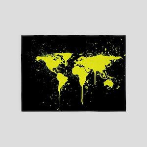Earth map 5'x7'Area Rug