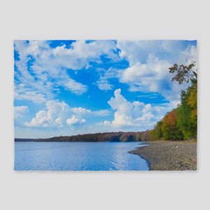 lakeside scenery 5'x7'Area Rug