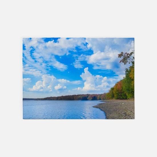 lakeside scenery 5'x7'Area Rug