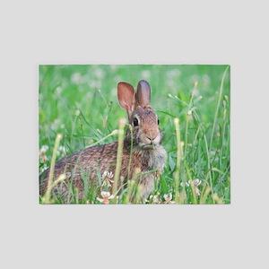 Cottontail Rabbit 5'x7'Area Rug