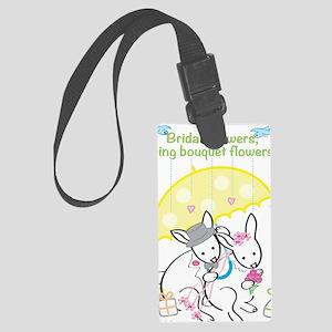 Bridal Shower - Rabbits Large Luggage Tag
