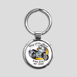 Moto Guzzi Norge 1200gt Round Keychain