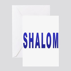 Shalom greeting cards cafepress jewish shalom hebrew greeting card m4hsunfo