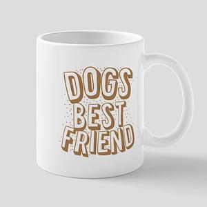DOGS BEST FRIEND (retro vintage funny d Mugs