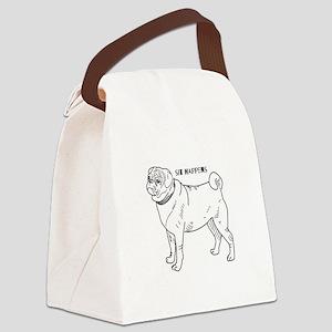 Sit Happens Canvas Lunch Bag