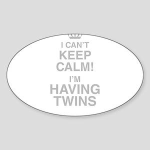 I Cant Keep Calm! Im Having Twins Sticker