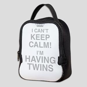 I Cant Keep Calm! Im Having Twins Neoprene Lunch B
