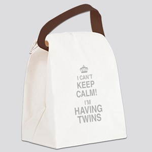 I Cant Keep Calm! Im Having Twins Canvas Lunch Bag