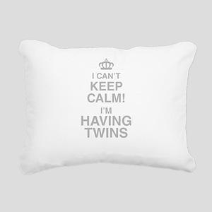 I Cant Keep Calm! Im Having Twins Rectangular Canv