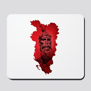 Skenderbeu on the greater Albania map Mousepad