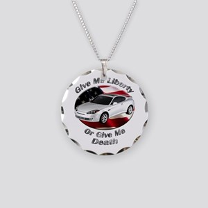 Hyundai Tiburon Necklace Circle Charm