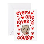 Everyone Loves a Cougar Greeting Cards (Pk/20)