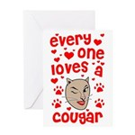 Everyone Loves a Cougar Greeting Card