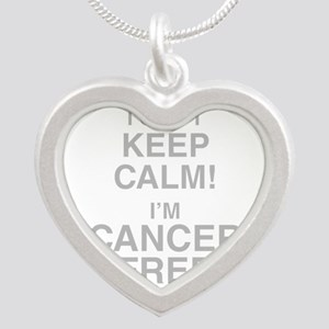 I Cant Keep Calm! Im Cancer Free Necklaces
