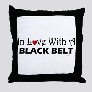 In Love With A Black Belt Throw Pillow