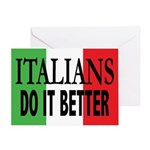 Italians Do It Better Greeting Card
