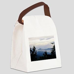 Smoky Mountain Sunrise Canvas Lunch Bag