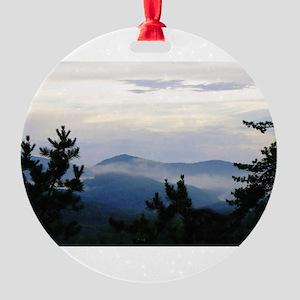 Smoky Mountain Sunrise Round Ornament