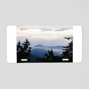 Smoky Mountain Sunrise Aluminum License Plate