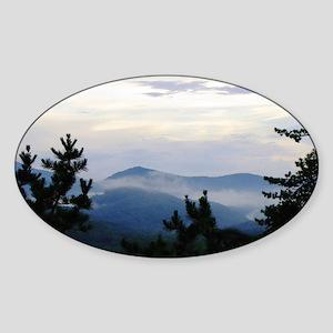 Smoky Mountain Sunrise Sticker (Oval)