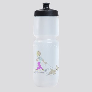 Walking The Dog Sports Bottle